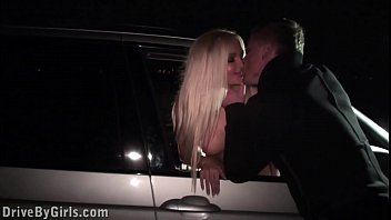 Free blowjobs through car window by a hot blonde girl in public gang bang orgy