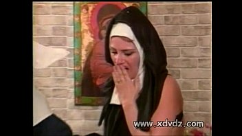 nun asks stud sisters to spank her naked.