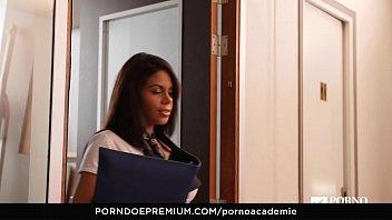 PORNO ACADEMIE - Busty Venezuelan beauty Kesha Ortega has wild MMF threesome