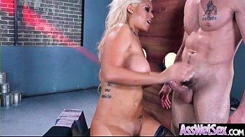 (Bridgette B) Big Round Oiled Ass Girl Love Hard Anal Intercorse video-13