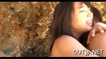 Double asian fun outdoors for the luckiest man ever