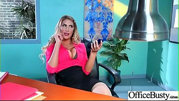 Hard Sex With Big Round Tits Nasty Office Girl (August Ames) video-02