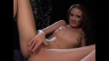 Sensuous brunette loves masturbating with a dildo