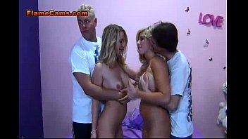 Two Amateur Blonde Babes In A Foursomem 1