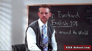 Big tit teacher blowjob students cock in classroom06