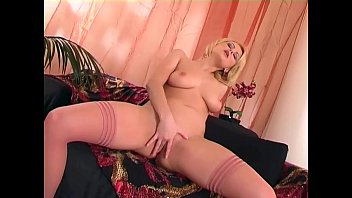 pretty honey drains in rosy underwear and high-heeled slippers