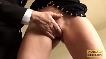 Punished british swallow warm cum of her big dick master