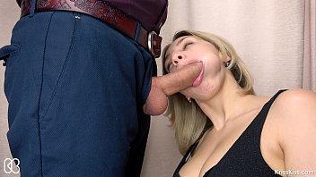 Secretary Suck Big Cock and Swallows Cum, 4K (Ultra HD) - Kriss Kiss
