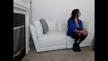 brunette with big tits enjoying sex on webcam