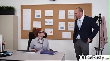 Sex In Office With Big Round Tits Girl (Lennox Luxe) video-22
