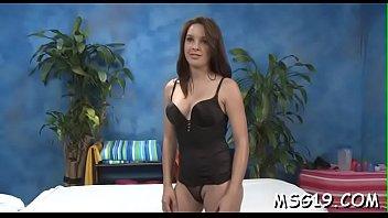 Adorable massage girl strips demonstrating her outstanding ass