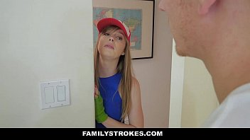 familystrokes- step-sister in law blows brother-in-law.