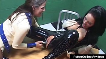 Sexy Latex Rubber Doll Worshiped By Slave Cadet Heather Silk