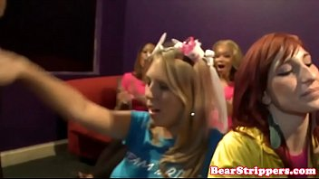 Busty bachelorette doggystyled after blowjob