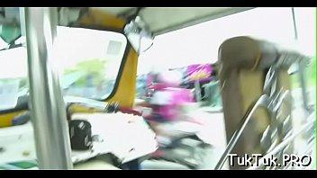 Thai slut deepthroats a boner