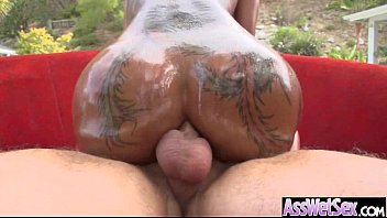 (bella bellz) Slut Girl With Big Butt Get Oiled And Deep Anal Sex mov-08