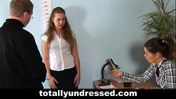 Hardcore job interview for sexy redhead teen