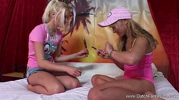 Lesbian Friends Fingered And Masturbates Each Pussy