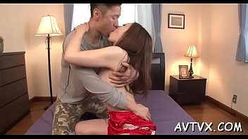 Stud is receving an arousing oral from cute oriental