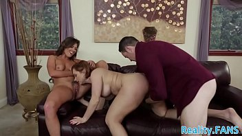 ample-titted mummies sharing lucky men pound-stick