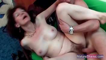 mature ginger-haired drilled rock-hard