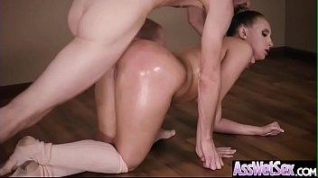 (Harley Jade) Big Butt Oiled Girl Love Deep Hard Anal Sex clip-17