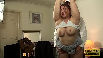 brit plumper plunged and disciplined by horny elderly dude