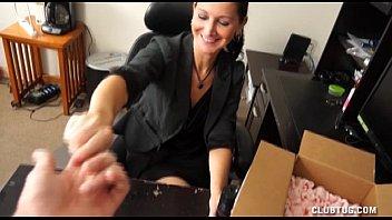 Sexy Milf Handjob At The Office