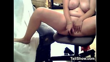 Fat Slut With Big Tits Masturbates Using Her Toy