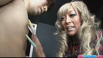 Stunning and gorgeous blond babe Rina Aina gagging meaty cock for cumshot