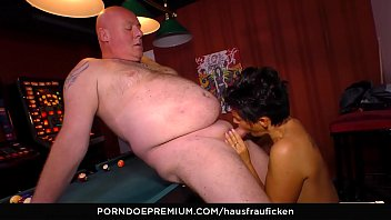 HAUSFRAU FICKEN &ndash_ Horny granny eats cum in hardcore fuck fest