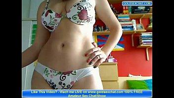 Sexy Amateur Teen Strip on Webcam Big Tits