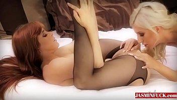 Black Stockings on Lesbian Babes-More Videos On Jasminfuck.com